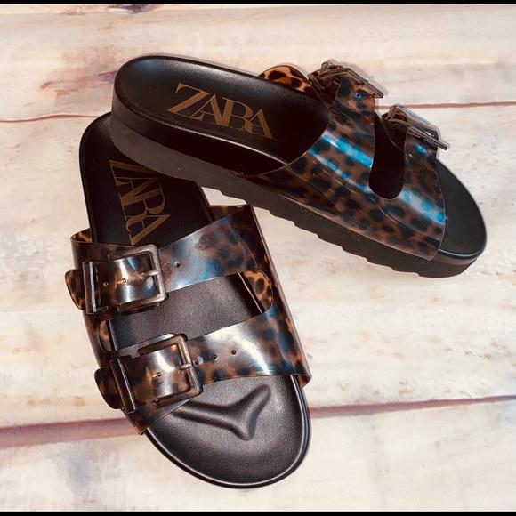 ZARA Sandals Birkenstock Style sz 8.5 NWOT